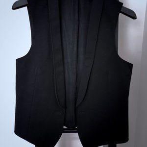 Jackets & Blazers - Black Wool Vest